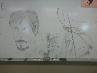 Board Drawings- Awefull Daryl by thebannanaking