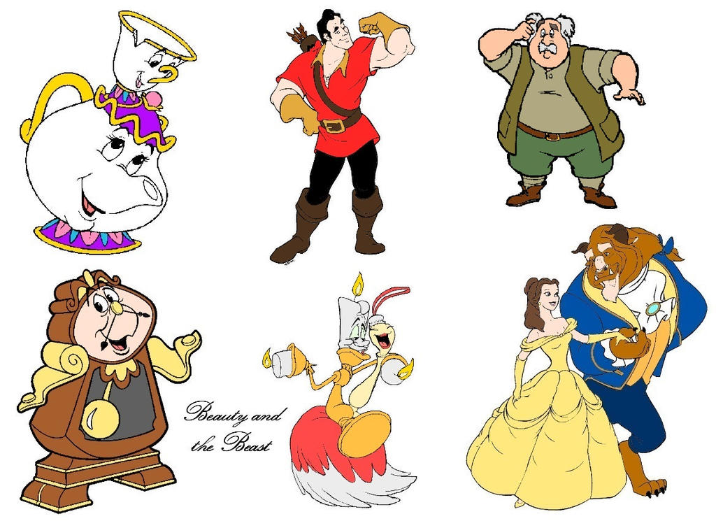 Beauty And The Beast Characters by slinkysis3 on DeviantArt