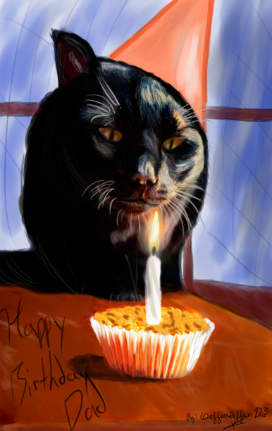 A Good Mans Cat Birthday Card By Geffenleffens On Deviantart