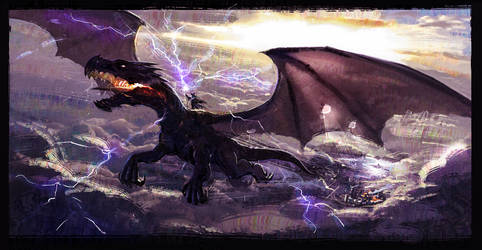 Ride the dragon by milkmindart