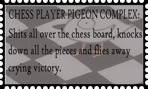 Chess Player Pigeon Stamp by hope-is-overrated