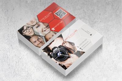 Free Business Card Mock-Up by pmvchamara