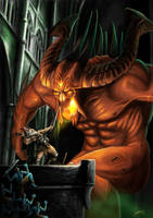 Battle against Diablo by Blensig