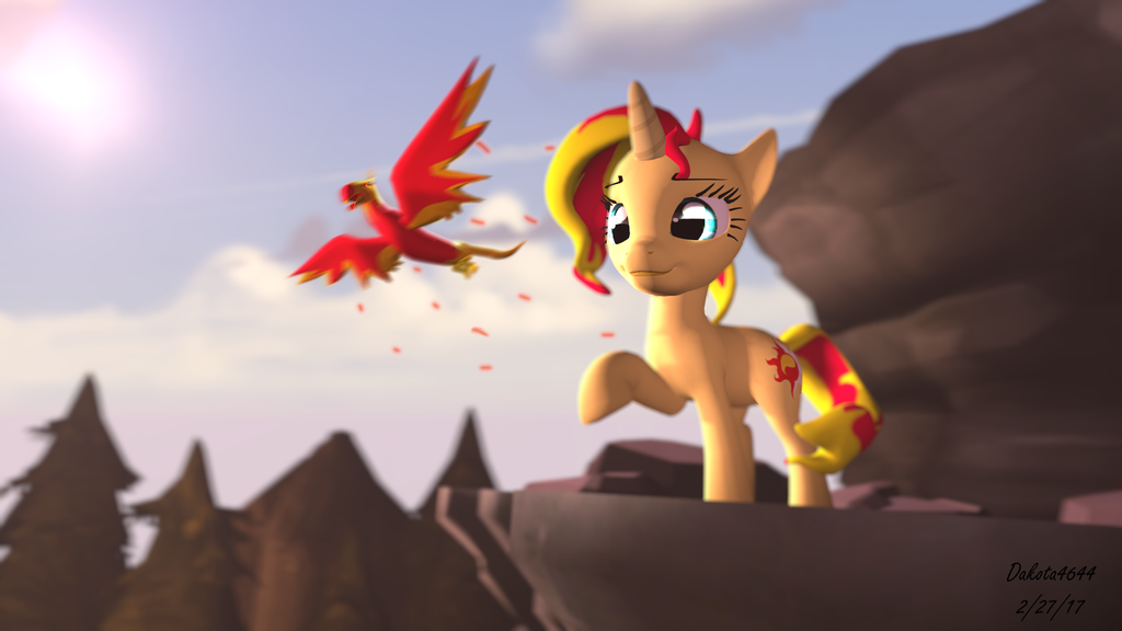 Sunset Looking at a Sunset...with a Bird. by Dakota4644