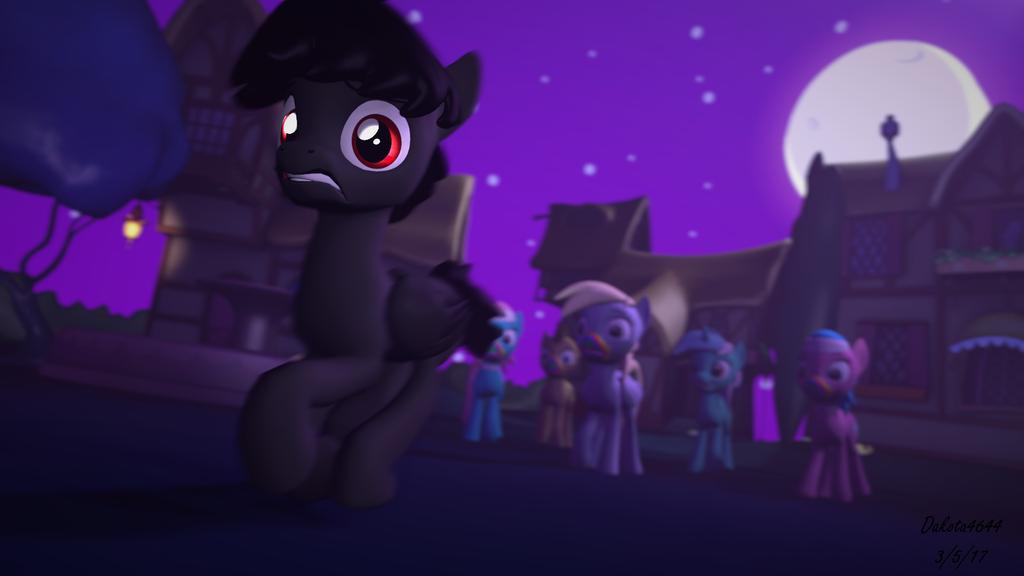 Black Smoke VS Ponies [Request] by Dakota4644