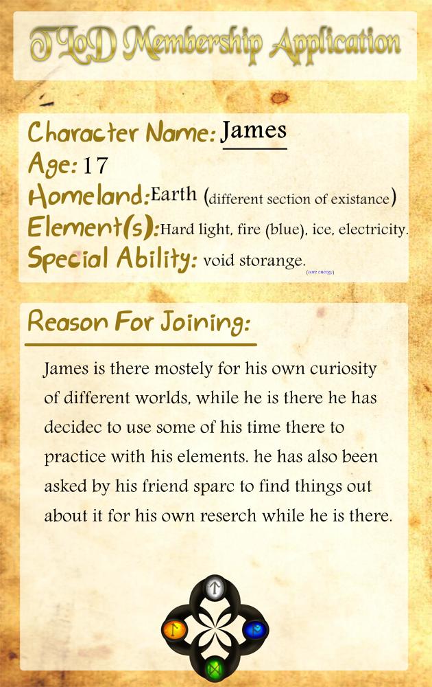 TLoD Membership App:: James by Jsstarter