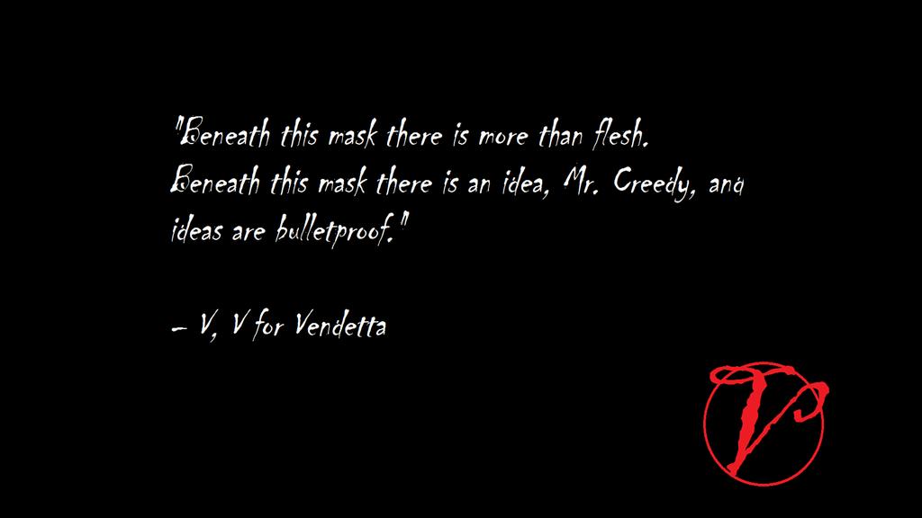 V For Vendetta Quotes For Vendetta Memorable...