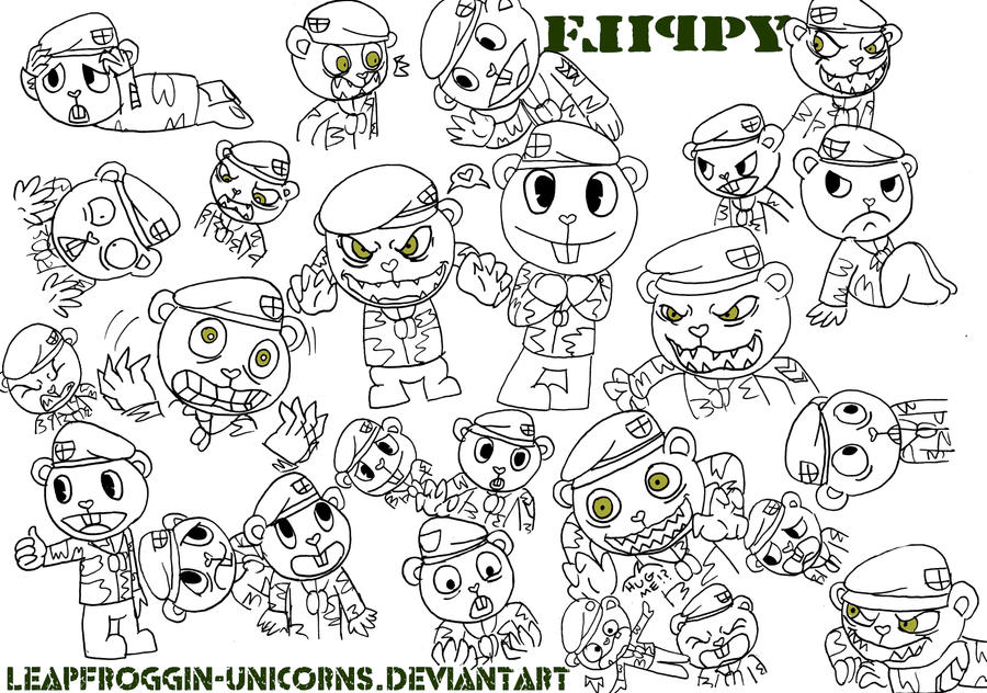 Whole lotta Flippy\'s :3 by LeapFroggin-Unicorns on DeviantArt