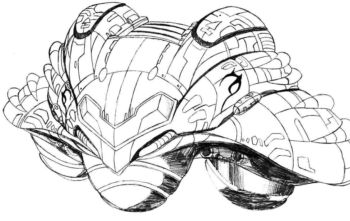 Samus Spaceship by Gradashi