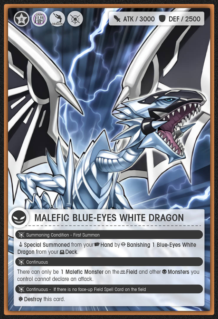 Malefic Blue Eyes White Dragon