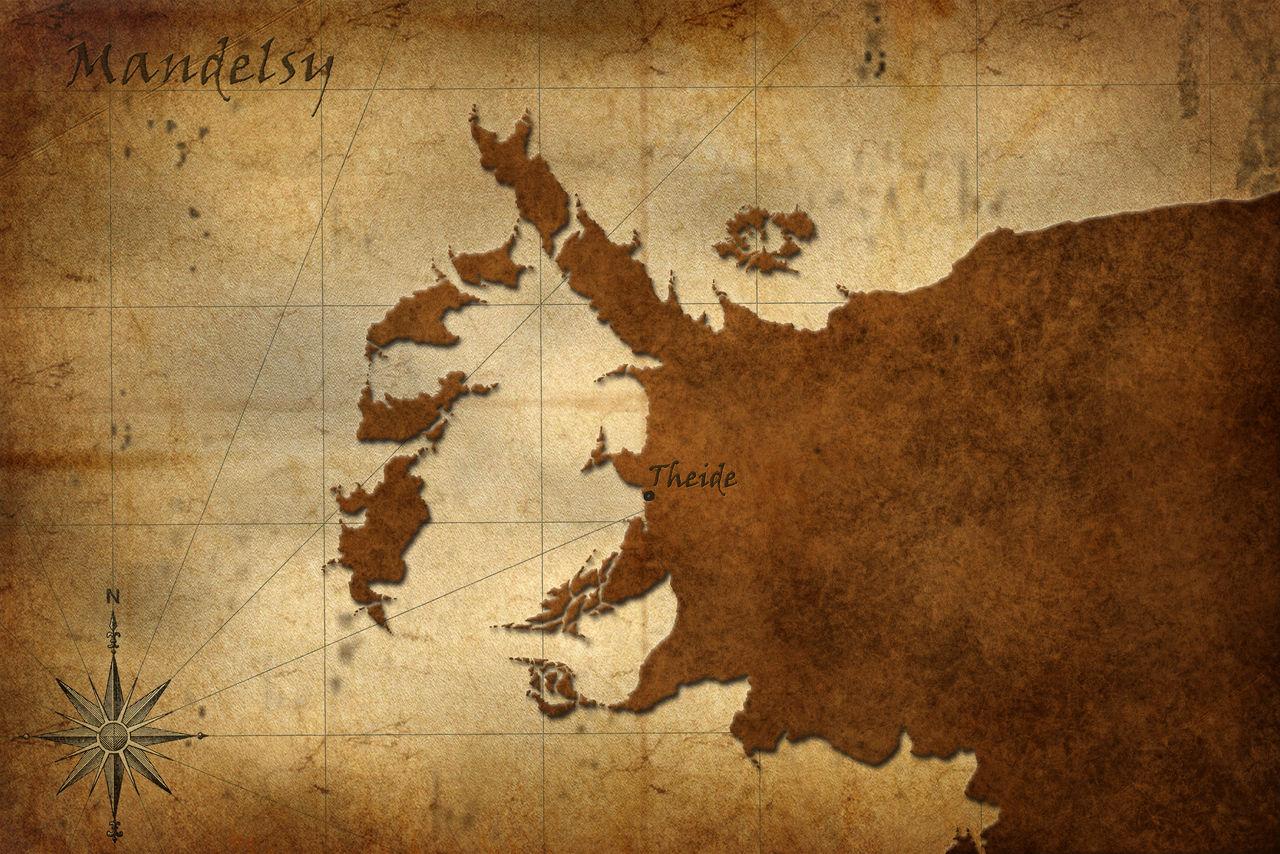 Old map of Mandelsy
