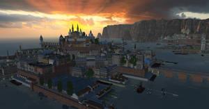 Larcay sunset