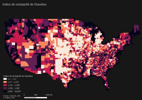 Gravelius index (USA)