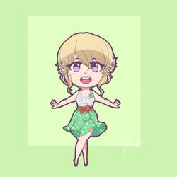 Chibi Aine Dance! by DiceKitty