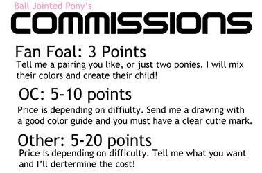 Commission Info by BallJointedPony