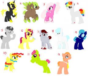 Themed Pony Adopts by BallJointedPony