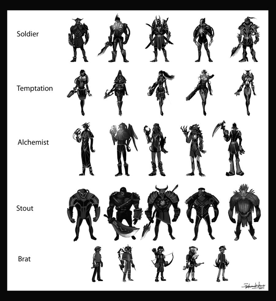 Character Design Thumbnails : Character concept design by wyd on deviantart