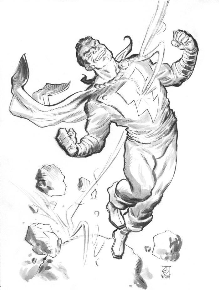 Shazam - Free Colouring Pages
