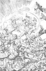 Invaders cover pencils by deankotz