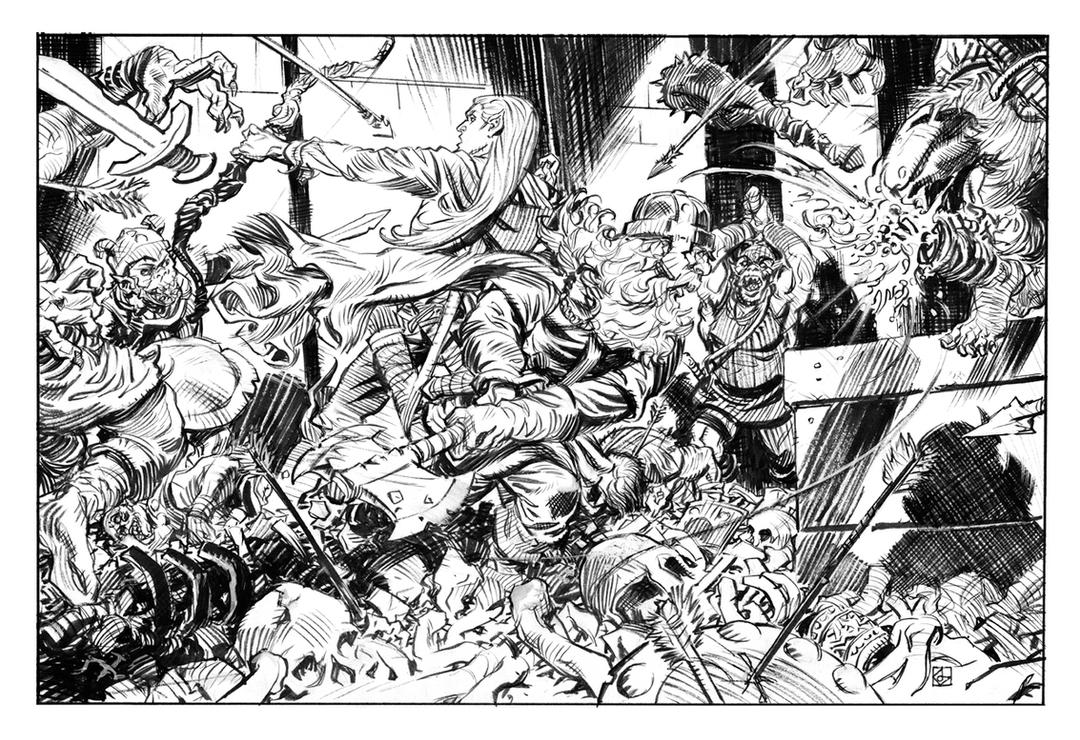 Legolas and Gimli by deankotz