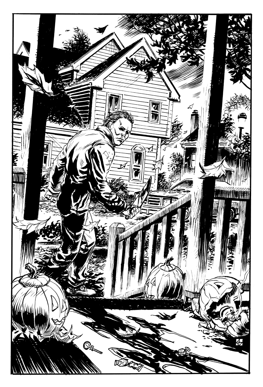 michael myers coloring pages - photo#10