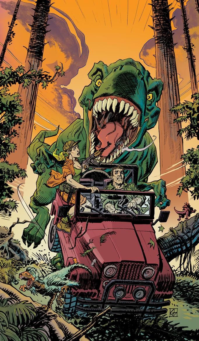 Jurassic Honeymoon Color by deankotz