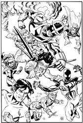 New Warriors by deankotz