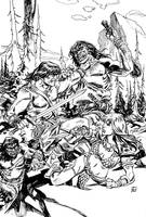 Conan and Red Sonja by deankotz
