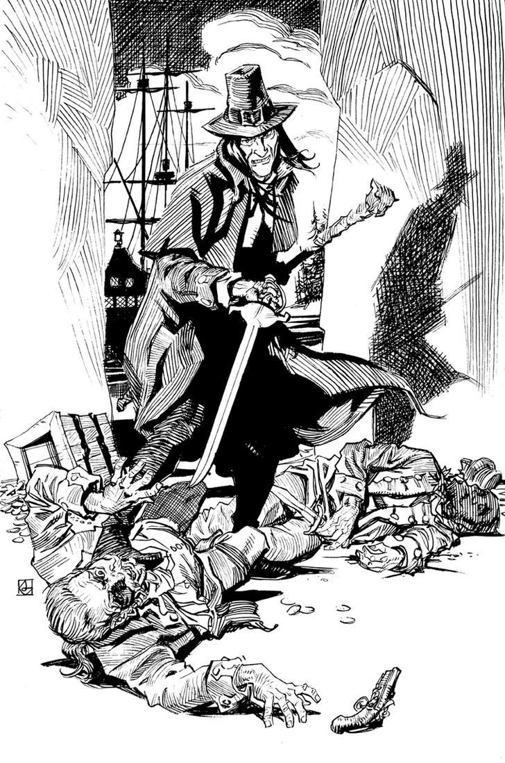 Solomon Kane in the Pirate's Den by deankotz