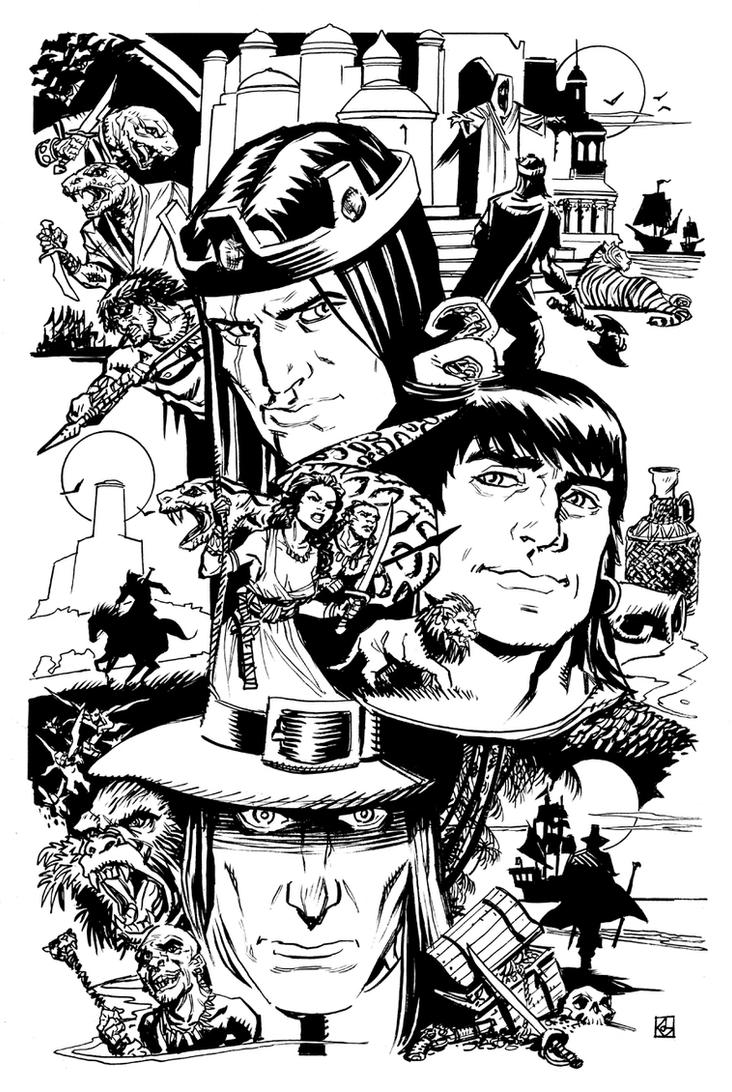 Kull, Conan, and Kane by deankotz