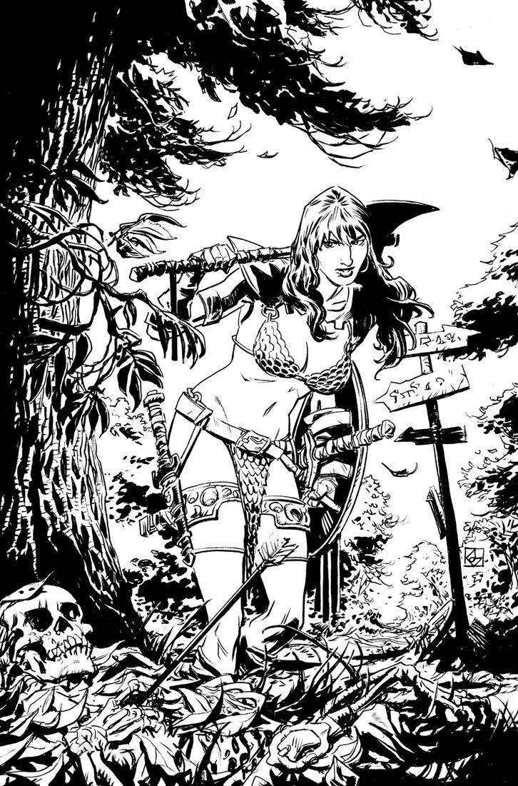 Red Sonja: Bed of Leaves by deankotz
