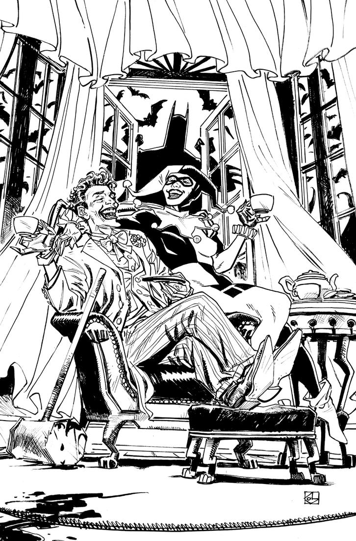 Joker and Harley: Tea for Two by deankotz