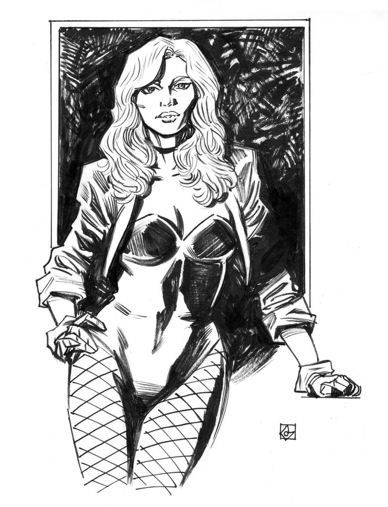 Black Canary Sketch by deankotz