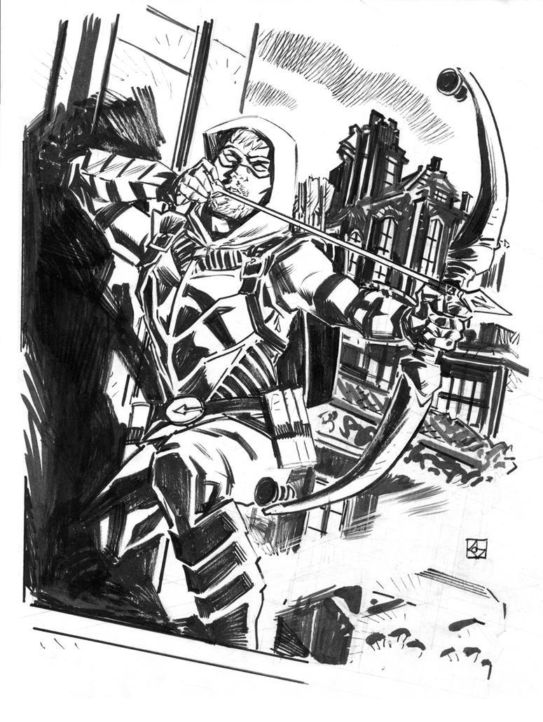Green Arrow Sketch by deankotz