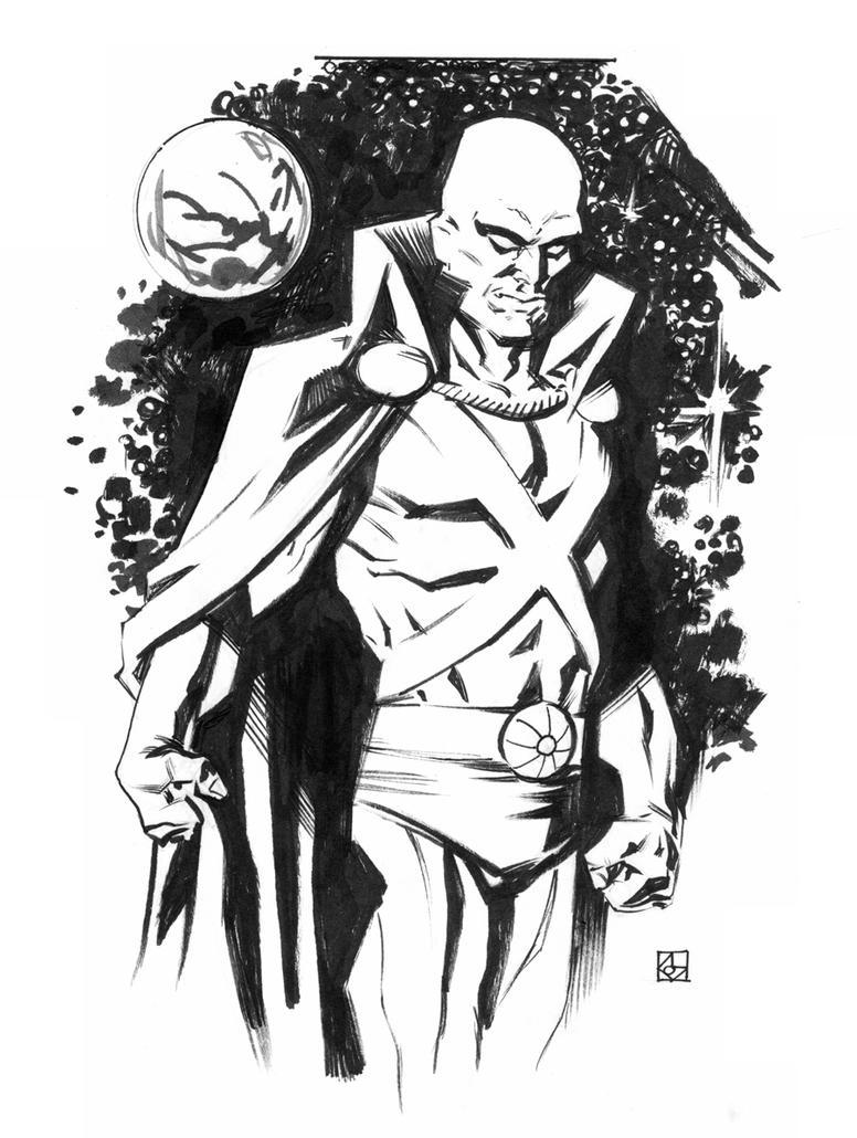 Martian Manhunter Sketch by deankotz