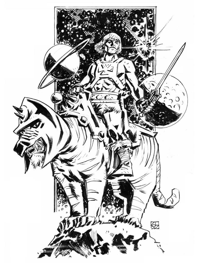 He-man and Battlecat by deankotz