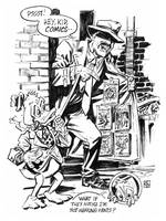 Howard the Duck in a bad part of town. by deankotz