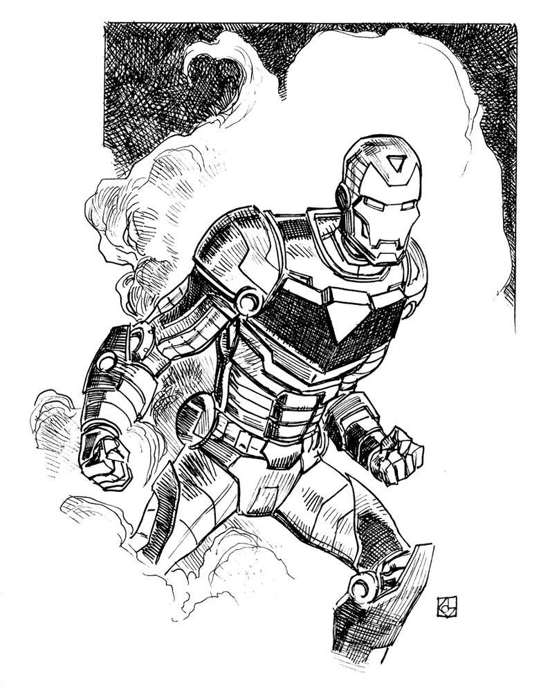 Iron Man sketch by deankotz