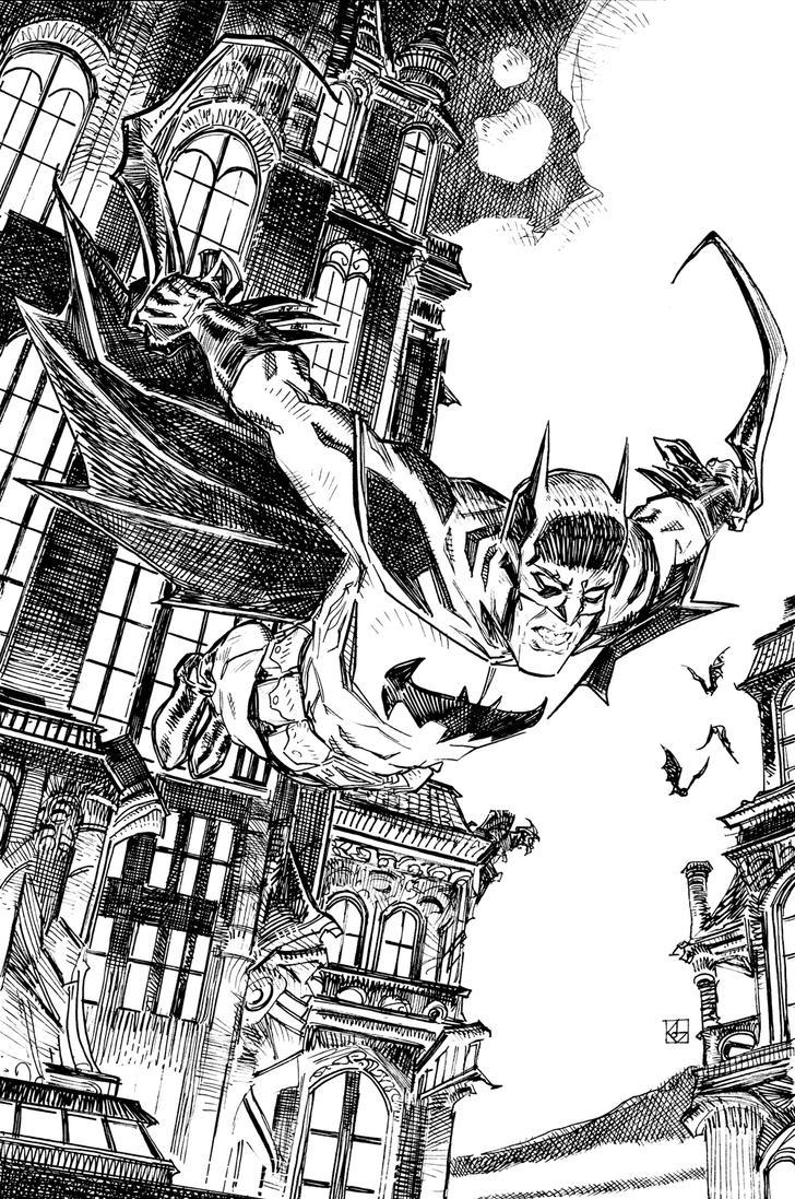 The Dark Knight Drops In by deankotz