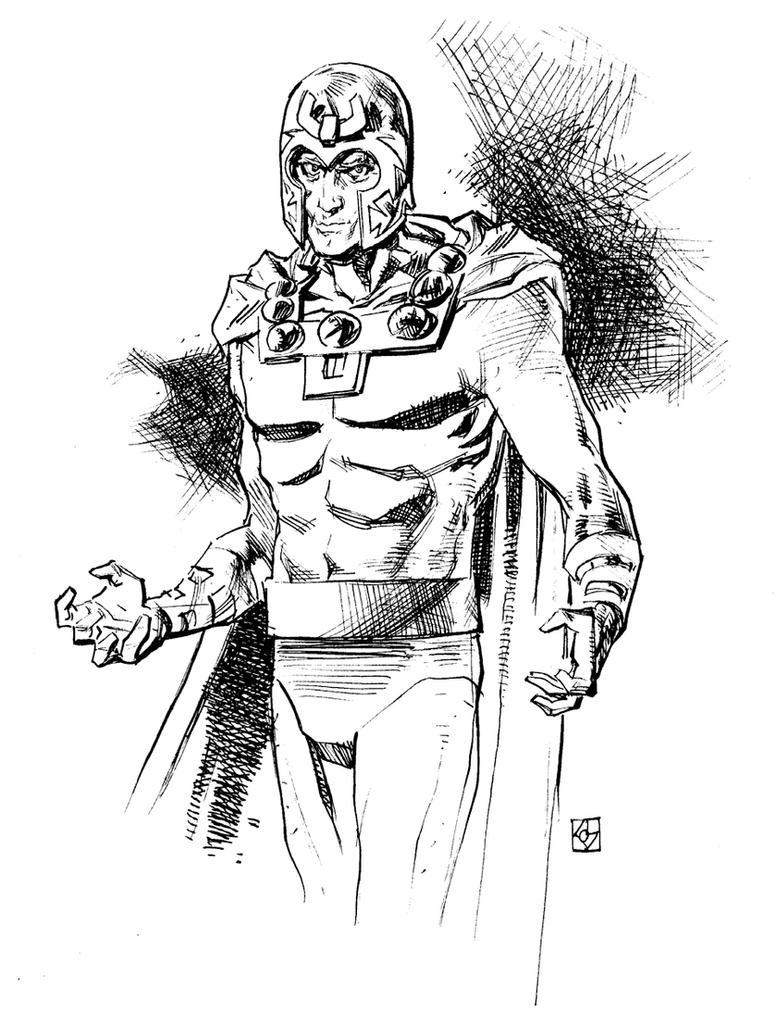 Magneto Sketch by deankotz