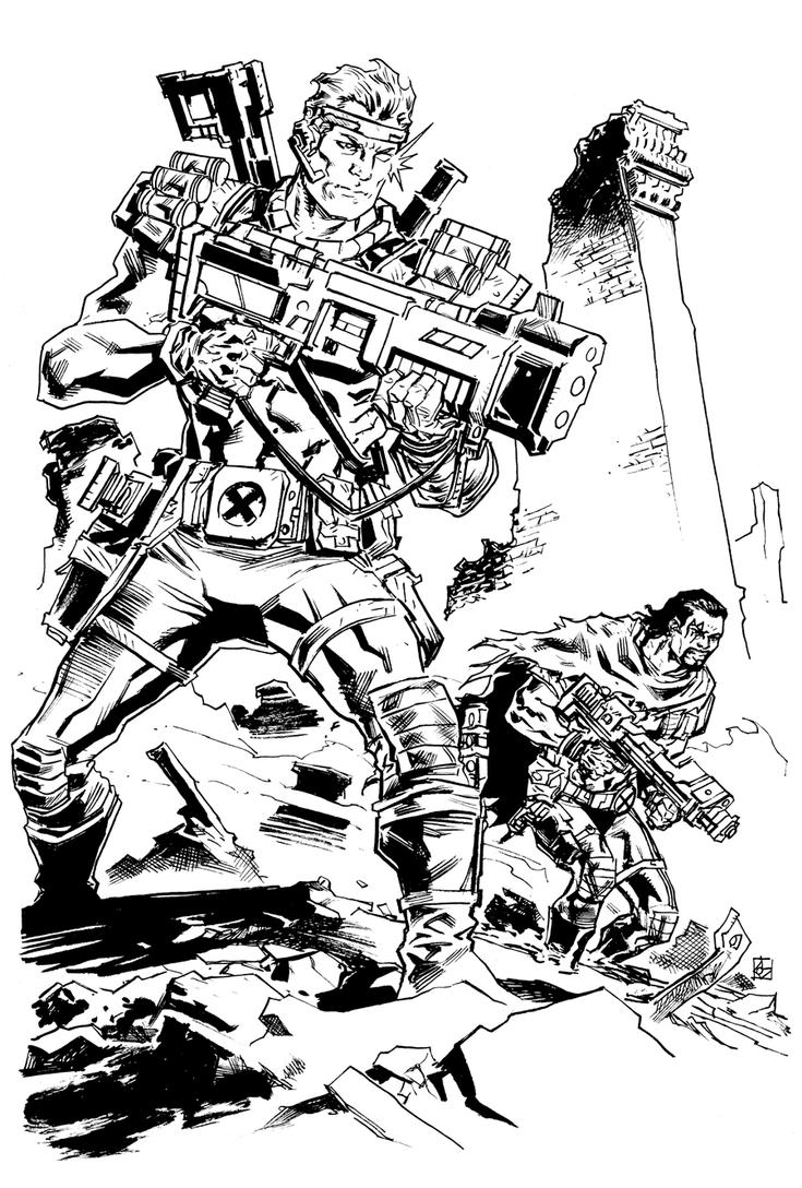 Cable and Bishop by deankotz