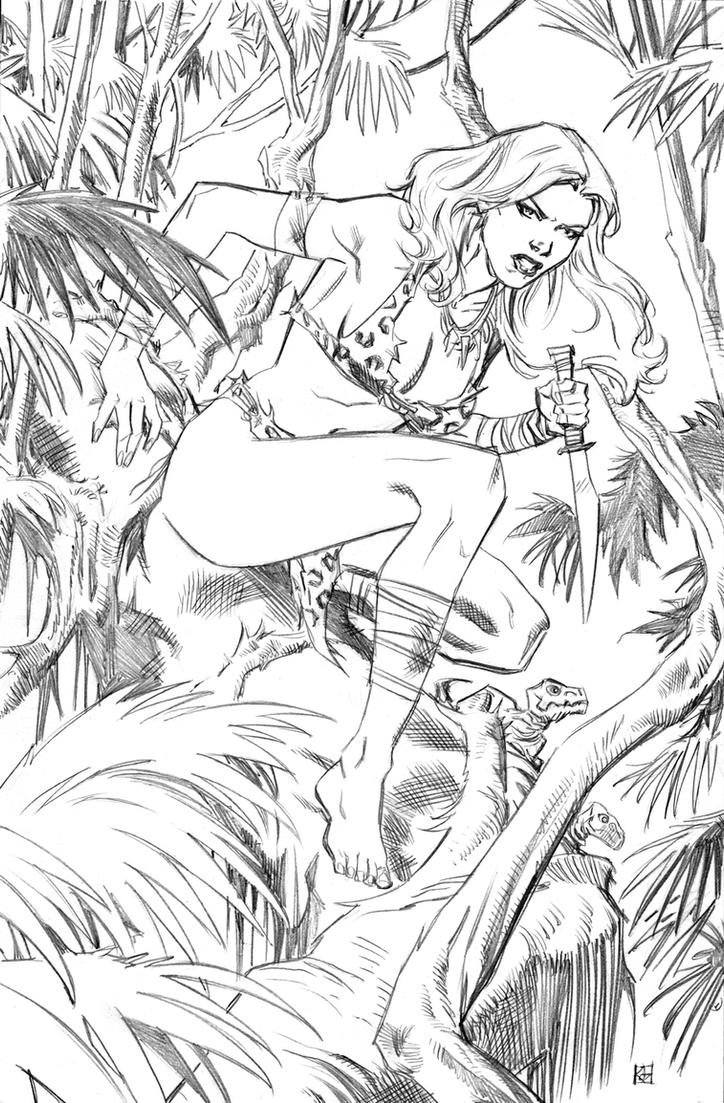 Shanna the She-Devil pencils by deankotz