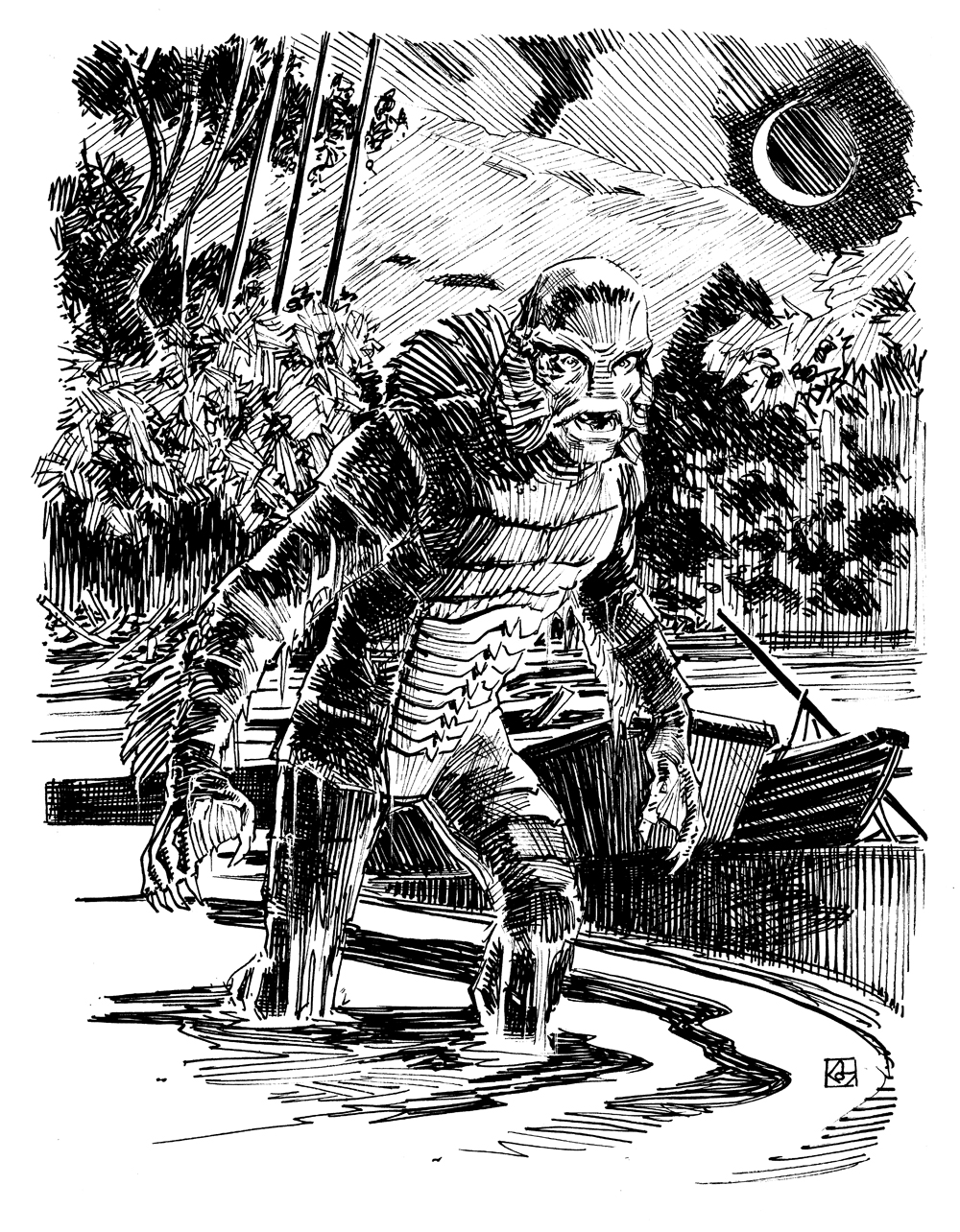 Creature from the black lagoon by deankotz on deviantart for Creature from the black lagoon coloring pages