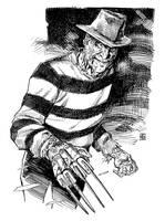 Nightmare on Elm Street's Freddy Krueger by deankotz