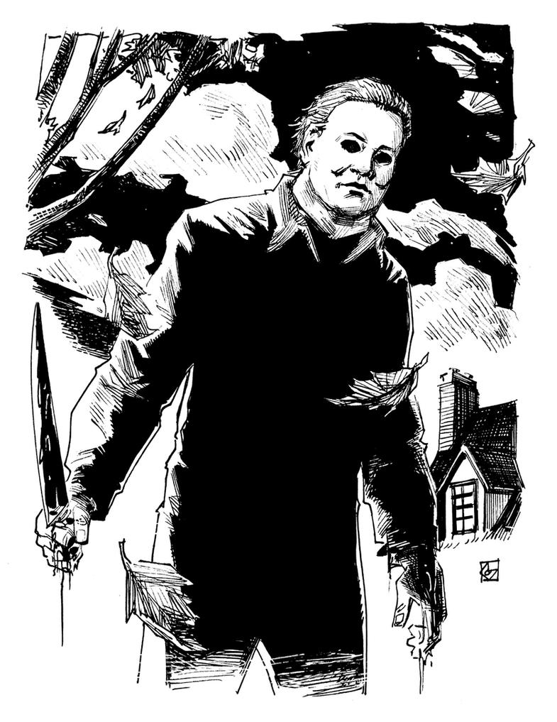 micheal myers free coloring pages