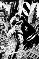 Batman Rainy Night in Gotham by deankotz