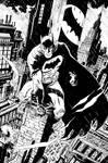 Batman Rainy Night in Gotham