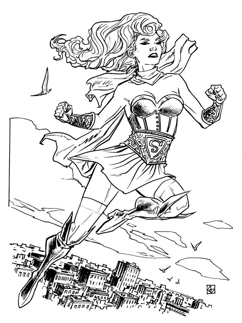 DC Bombshells Supergirl by deankotz