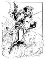 DC Bombshells Hawkgirl by deankotz