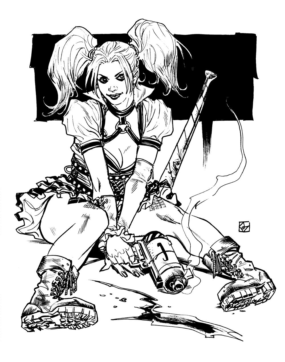 Harley Quinn from Batman Arkham Knight by deankotz